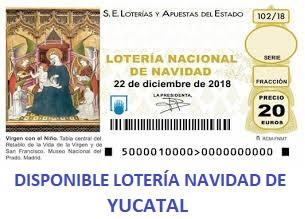 Disponible Lotería Navidad Yucatal